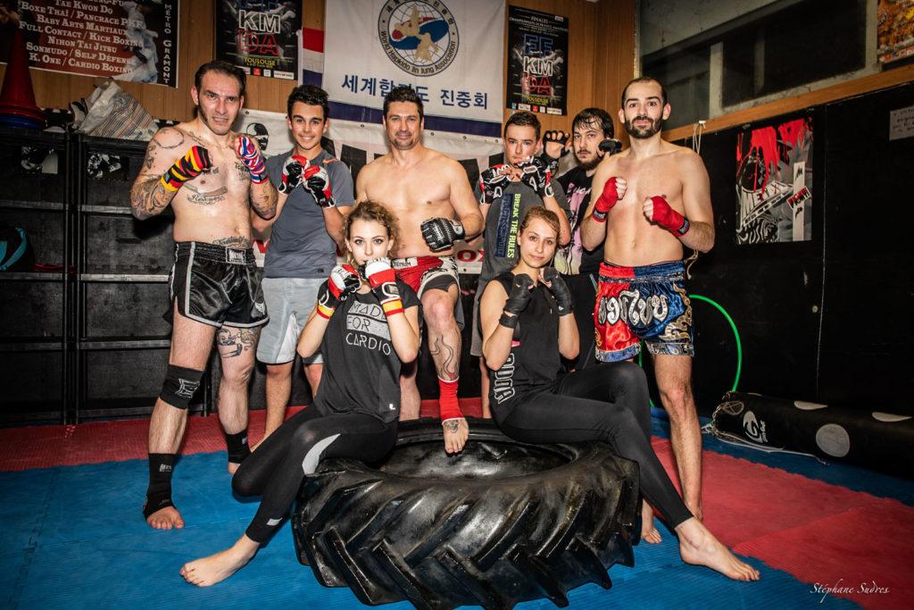 Le team de boxe thaï de la salle Shaoline à Toulouse