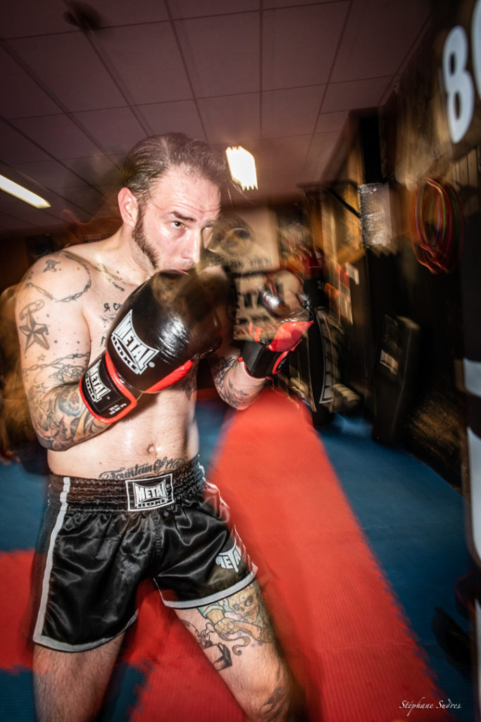 Boxeur en salle d'entrainement à Toulouse