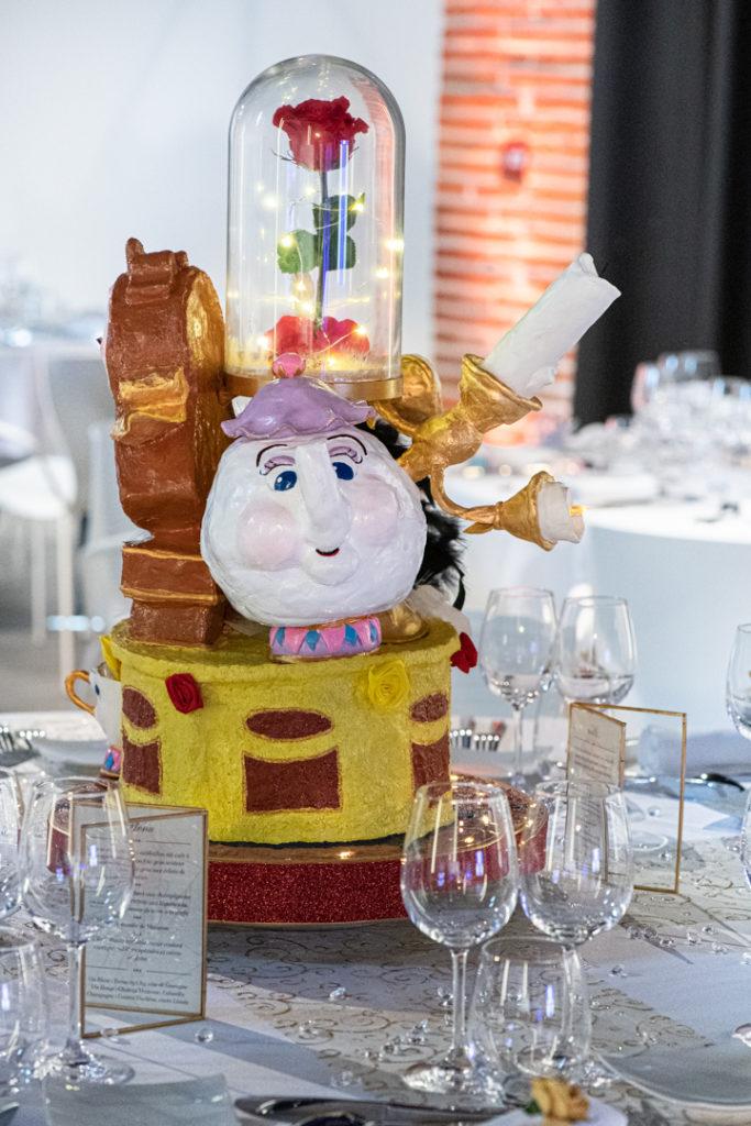 décoration de table lors du mariage au Manoir du Prince à Toulouse